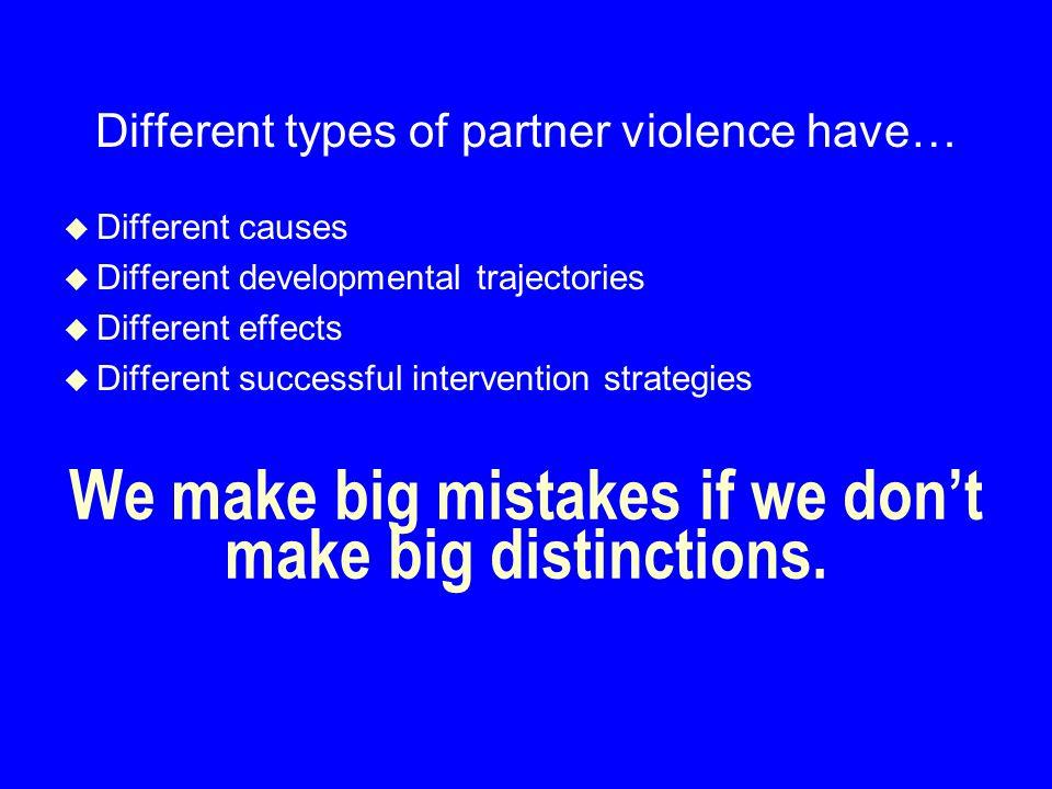 We make big mistakes if we don't make big distinctions.
