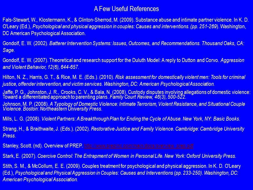 Fals-Stewart, W., & Clinton-Sherrod, M. (2009).