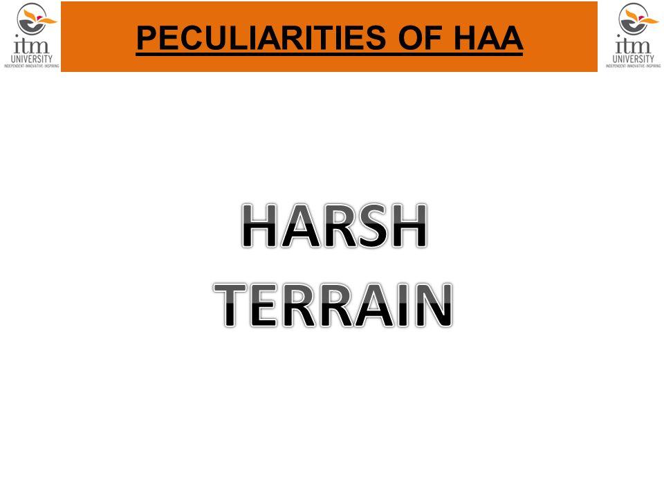 PECULIARITIES OF HAA