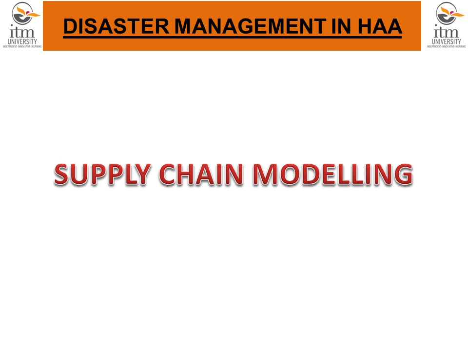 DISASTER MANAGEMENT IN HAA