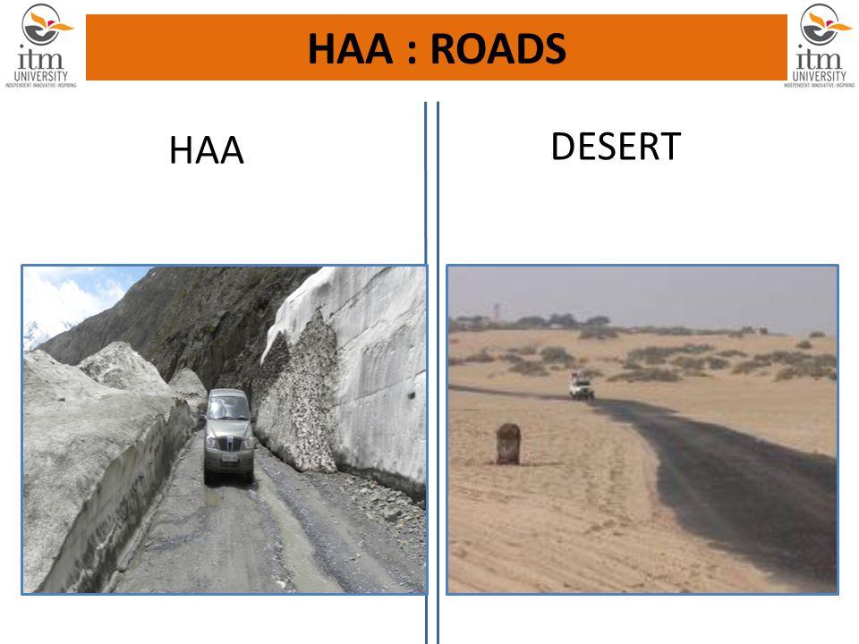HAA DESERT HAA : ROADS
