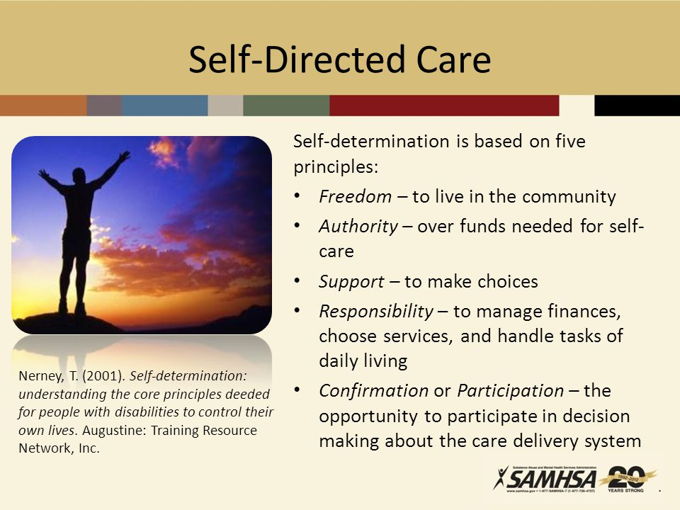 Self-Directed Care Nerney, T. (2001).