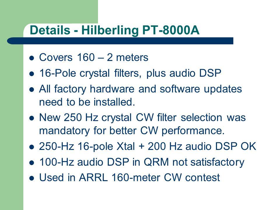 Screen shot from Elecraft Lab Fall 2008 Factory Confirms K3 Audio Problem