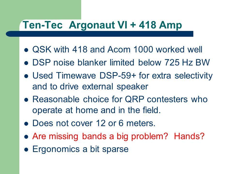 Icom 756 Pro III in-band IMD Distortion < 0.3 % distortion -54 dB 3 rd Order IMD