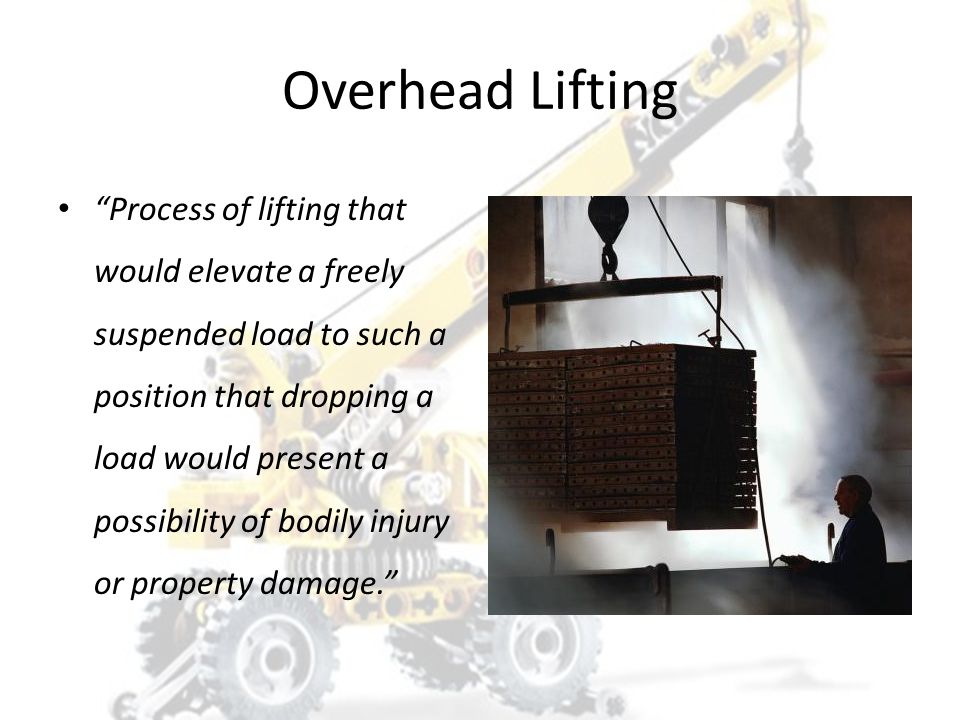 Overhead lifting refers to an object raised more than six feet above the ground. 1. True 2. False
