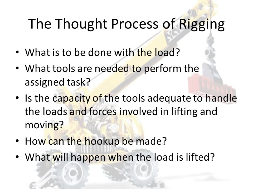 SAFE RIGGING PRACTICES Rigging Fundamentals