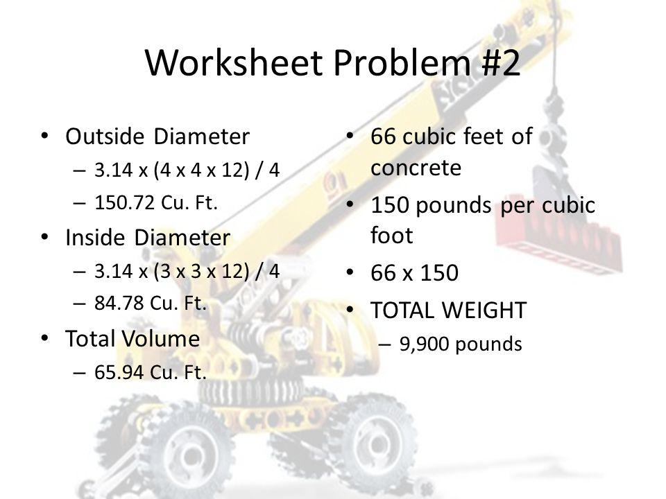 Worksheet Problem #2 1. 1,415# 2. 3,150# 3. 9,900# 4. 39,565#