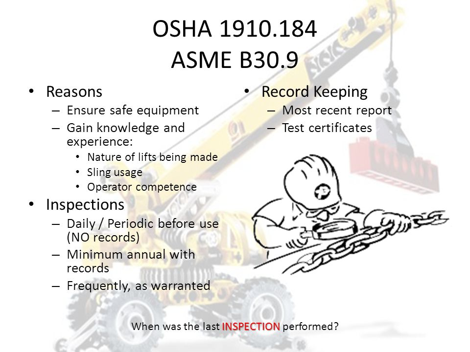 Every sling inspection must be documented. 1. True 2. False