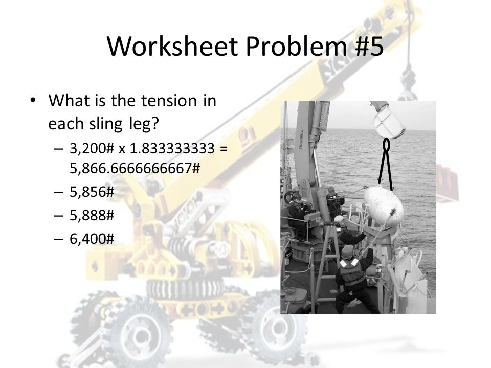 Worksheet Problem #5 What is the load factor? – 5.5 ÷ 3 = 1.83333333333333 – 1.83 – 1.84 – 2.00