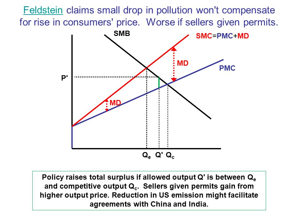 FeldsteinFeldstein claims small drop in pollution won t compensate for rise in consumers price.