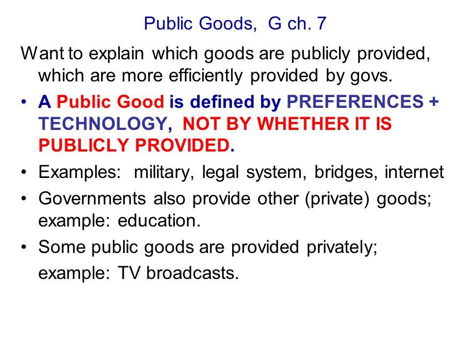 Public Goods, G ch.
