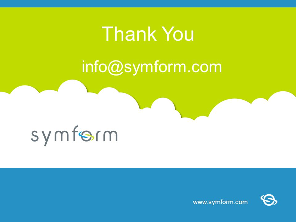 www.symform.com The Revolutionary Cloud Storage Network www.symform.com Thank You info@symform.com
