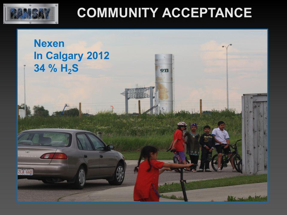 Nexen In Calgary 2012 34 % H 2 S