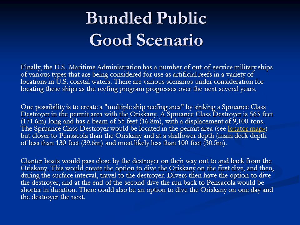 Bundled Public Good Scenario Finally, the U.S.
