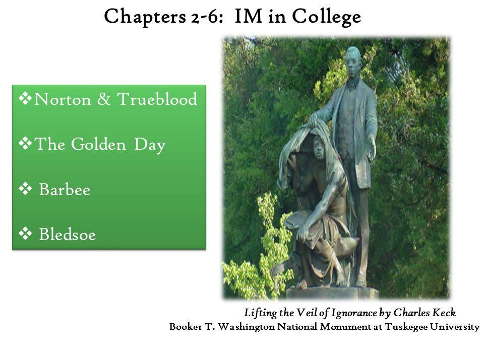 Chapters 2-6: IM in College  Norton & Trueblood  The Golden Day  Barbee  Bledsoe  Norton & Trueblood  The Golden Day  Barbee  Bledsoe Lifting