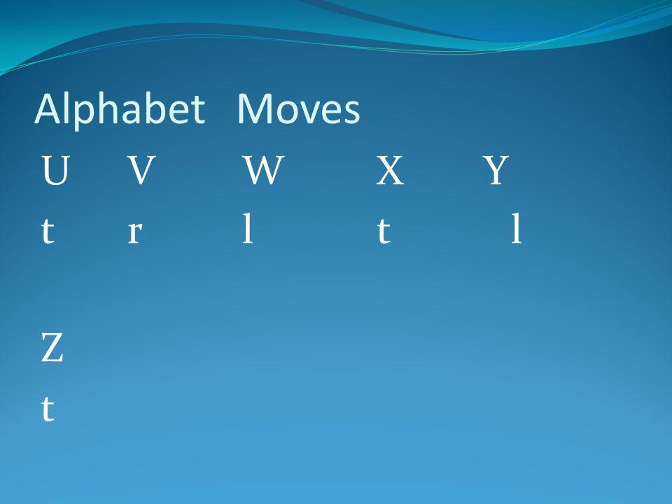 AlphabetMoves U VWX Y t rltl Z t