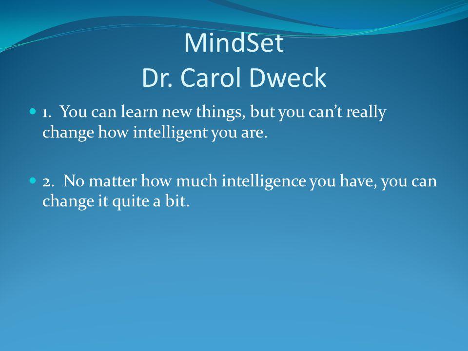 MindSet Dr.Carol Dweck 1.