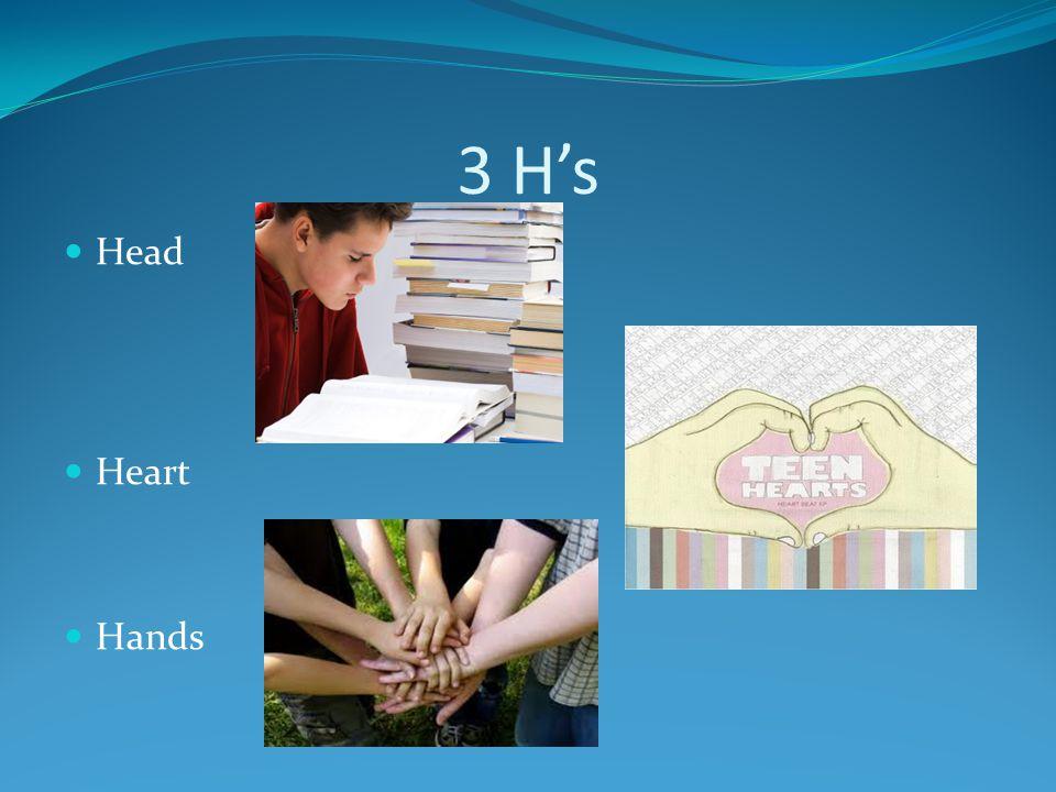 3 H's Head Heart Hands