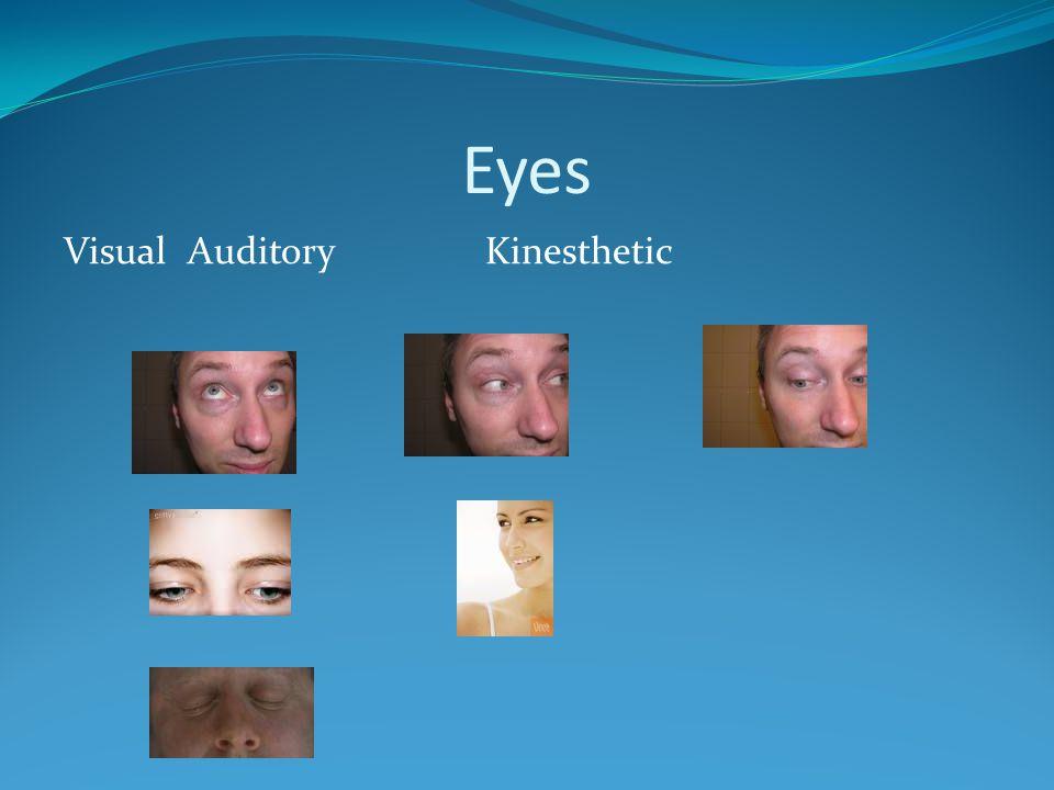 Eyes Visual AuditoryKinesthetic