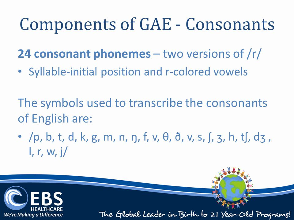 Summary Fundamental components of General American English, with an emphasis on phonology.
