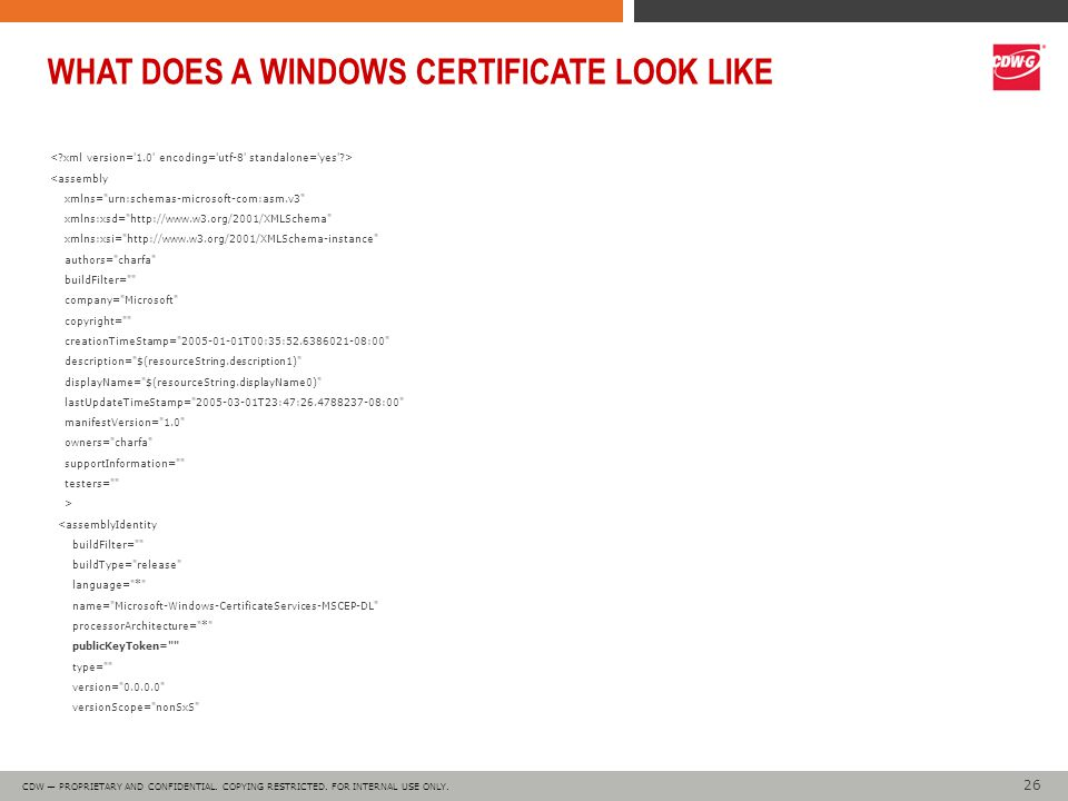 26 CDW — PROPRIETARY AND CONFIDENTIAL. COPYING RESTRICTED.