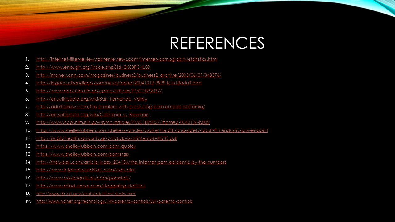 REFERENCES 1.http://internet-filter-review.toptenreviews.com/internet-pornography-statistics.htmlhttp://internet-filter-review.toptenreviews.com/inter