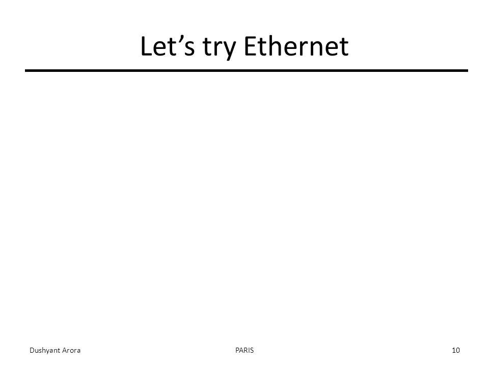 Let's try Ethernet Dushyant AroraPARIS10