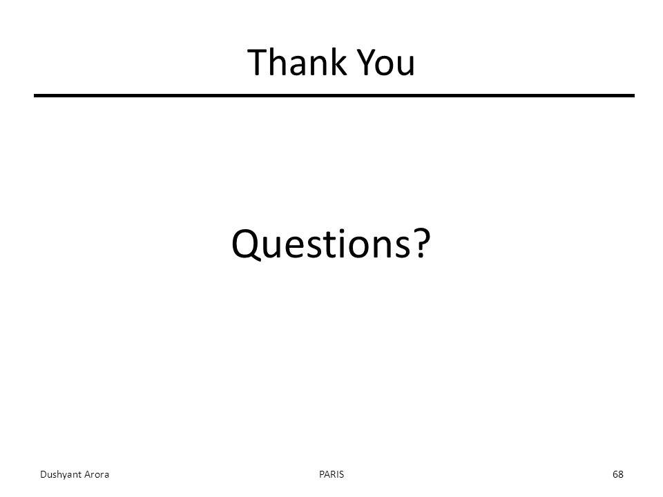 Thank You Questions Dushyant AroraPARIS68
