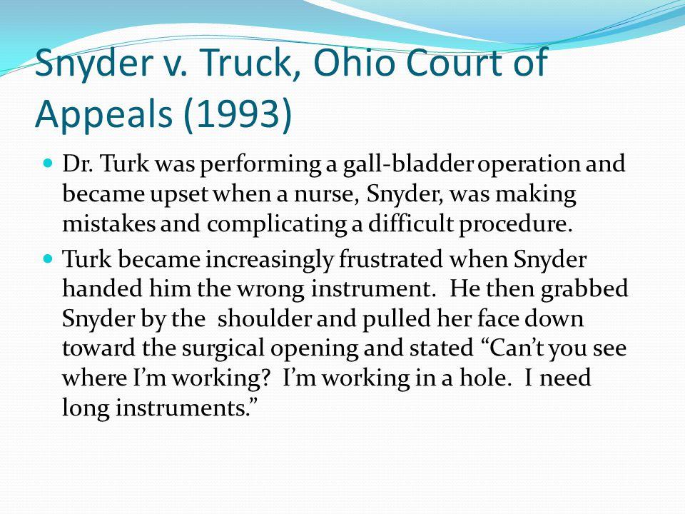 Snyder v. Truck, Ohio Court of Appeals (1993) Dr.