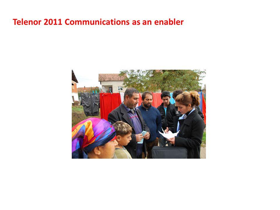 Telenor 2011 Communications as an enabler