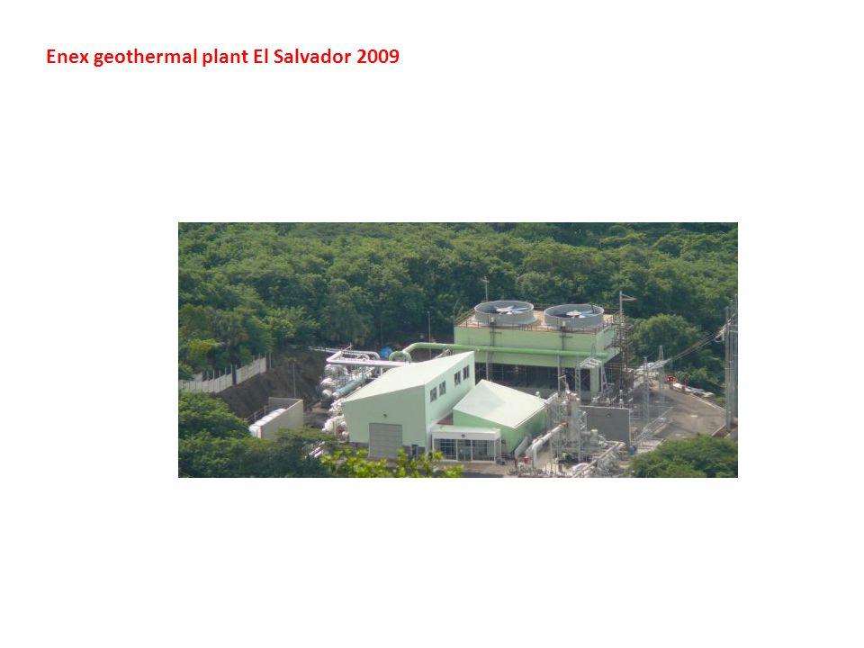 Enex geothermal plant El Salvador 2009
