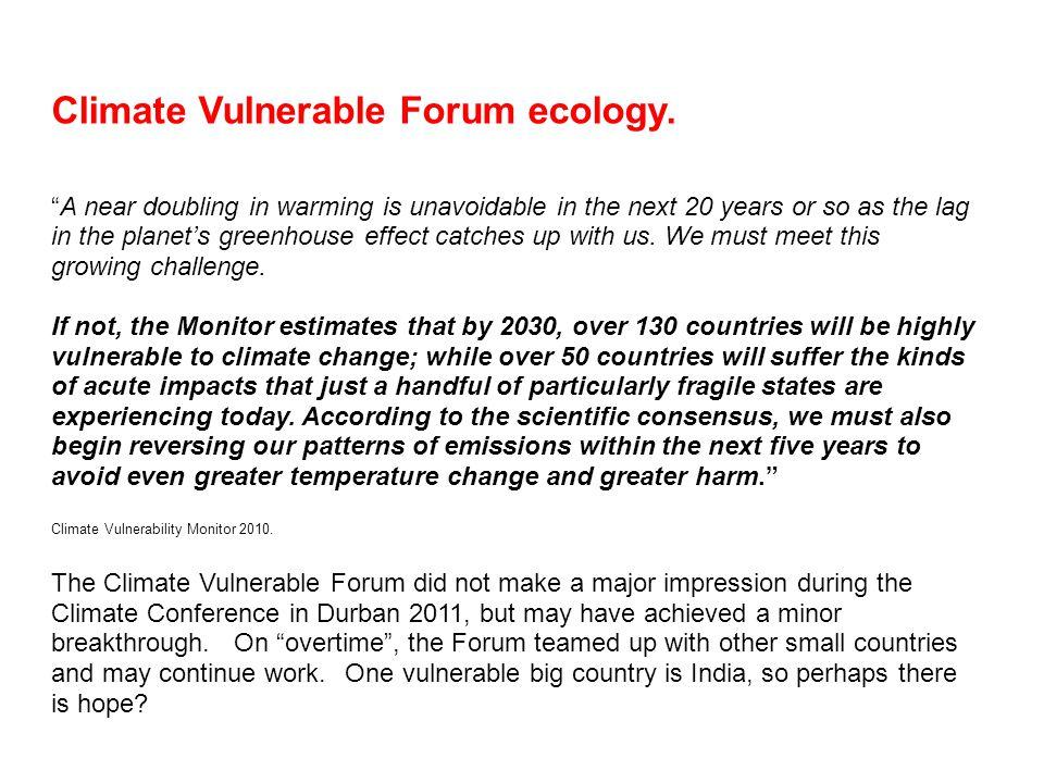 Climate Vulnerable Forum ecology.