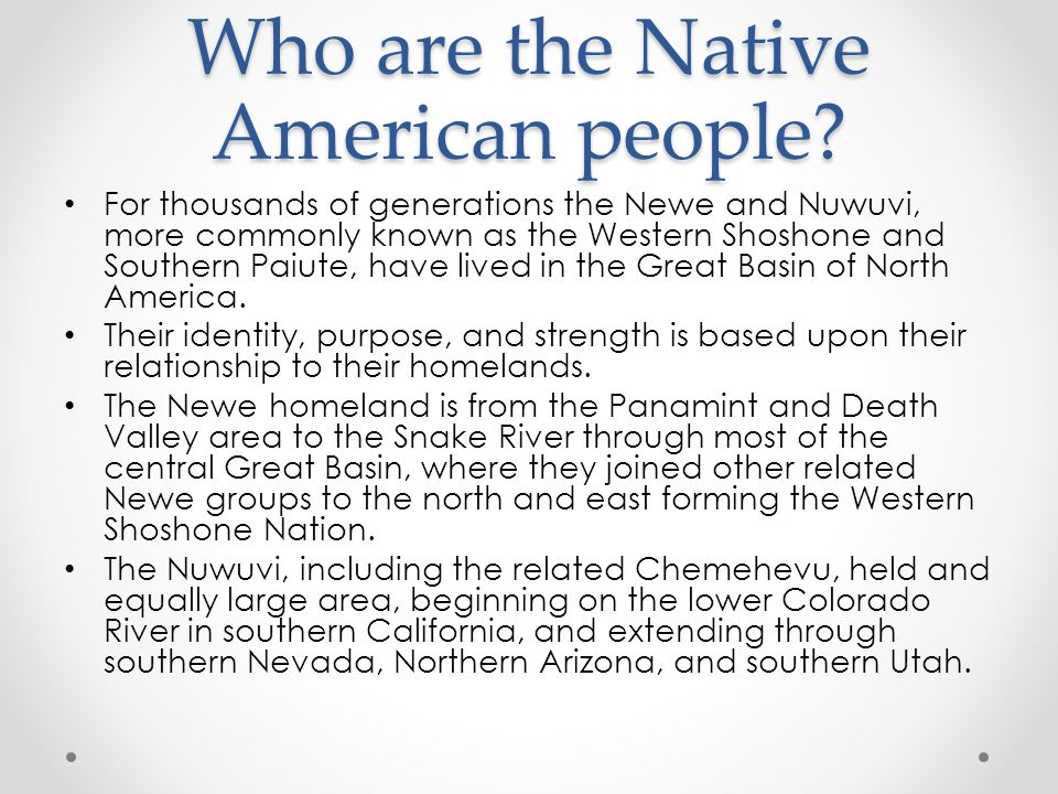 Who are the Native American people.