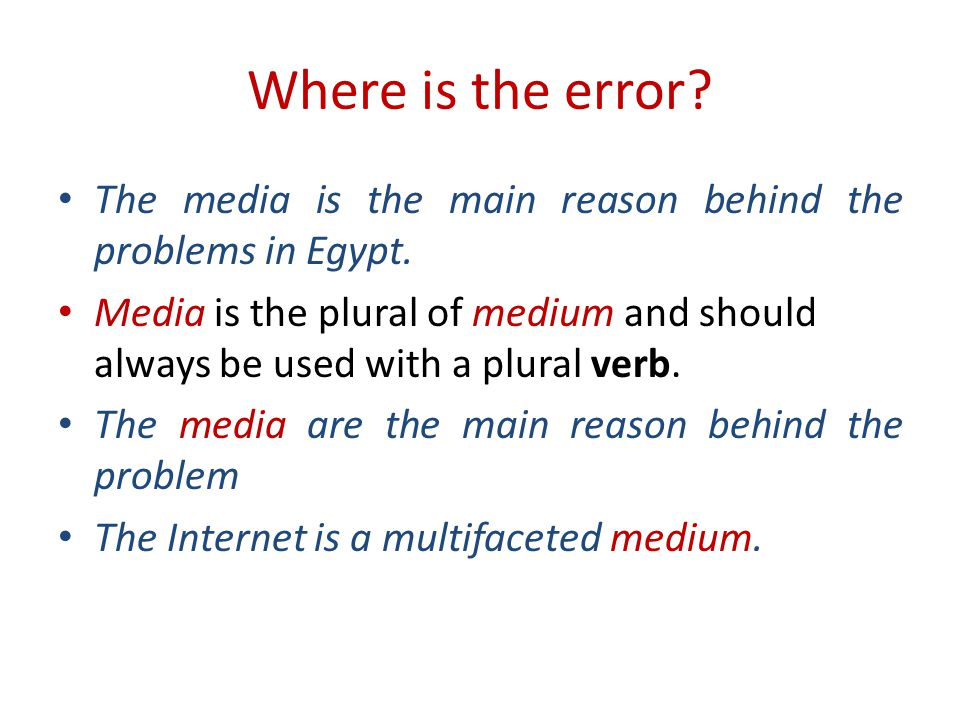 Where is the error.The media is the main reason behind the problems in Egypt.