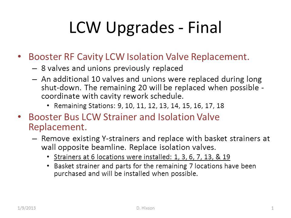 LCW Upgrades - Final 1/9/2013D.