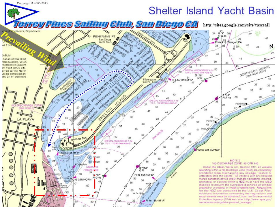 http://sites.google.com/site/tpscsail Copyright  2005-2013 Shelter Island Yacht Basin Prevailing Wind