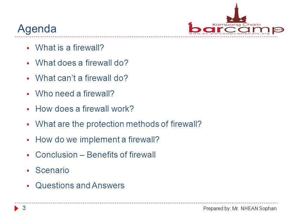 What is a firewall.