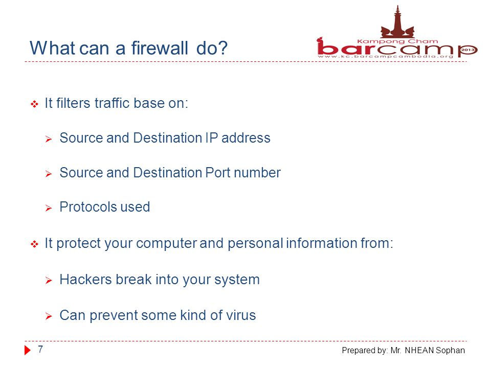 What can t a firewall do.