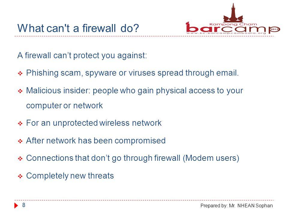 Who need a firewall.