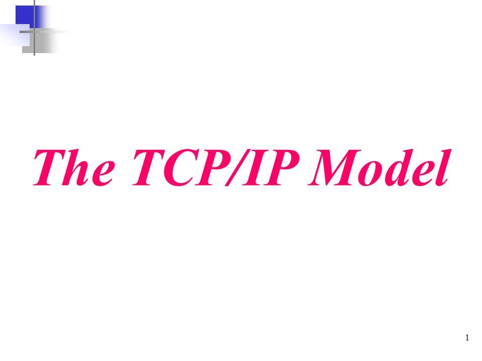 1 The TCP/IP Model