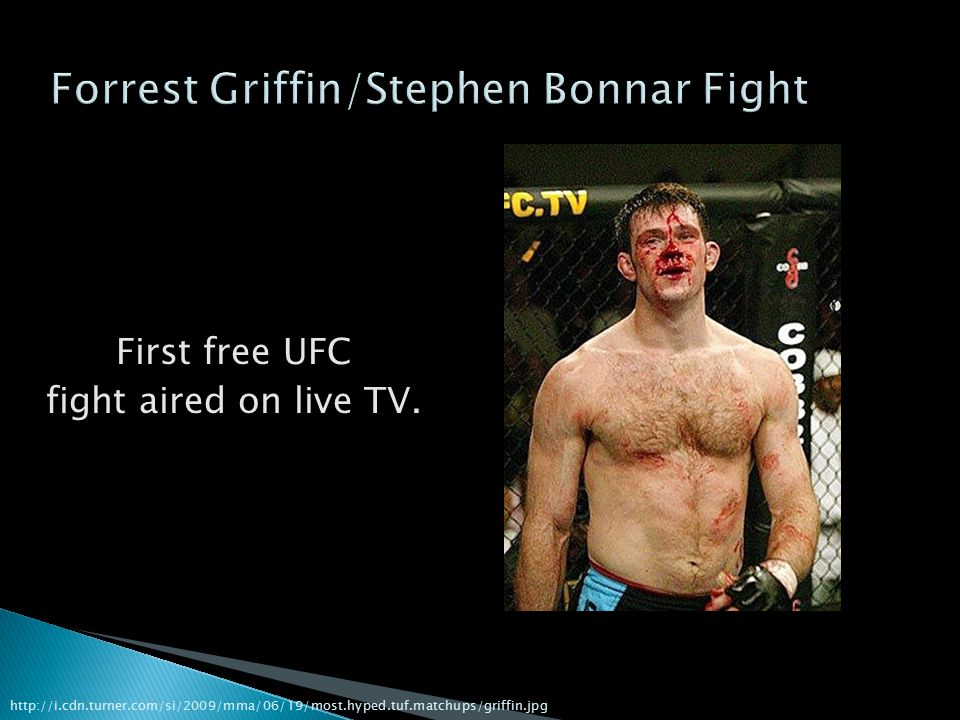 First free UFC fight aired on live TV.