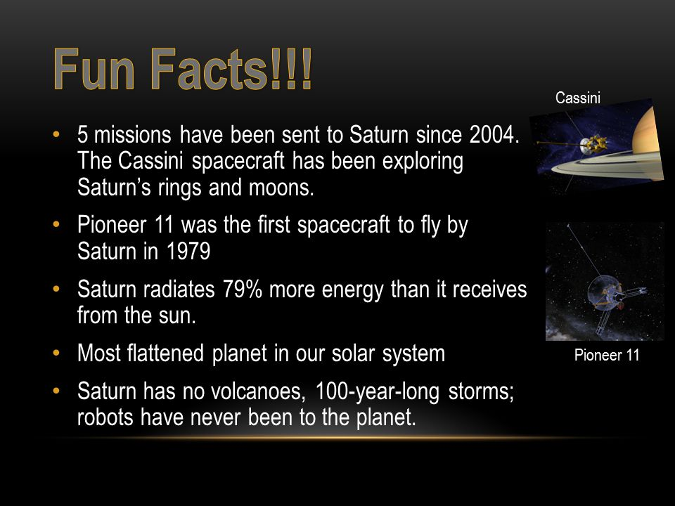 5 missions have been sent to Saturn since 2004.