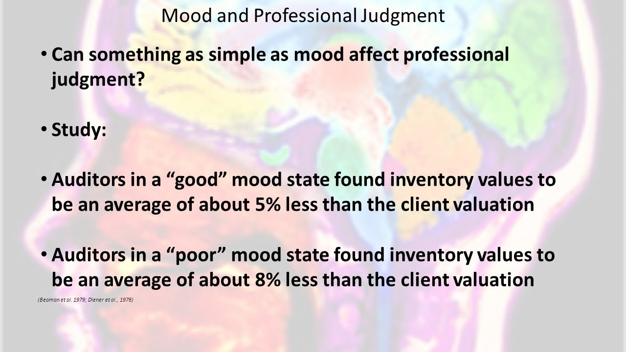 Mood and Professional Judgment (Beaman et al.