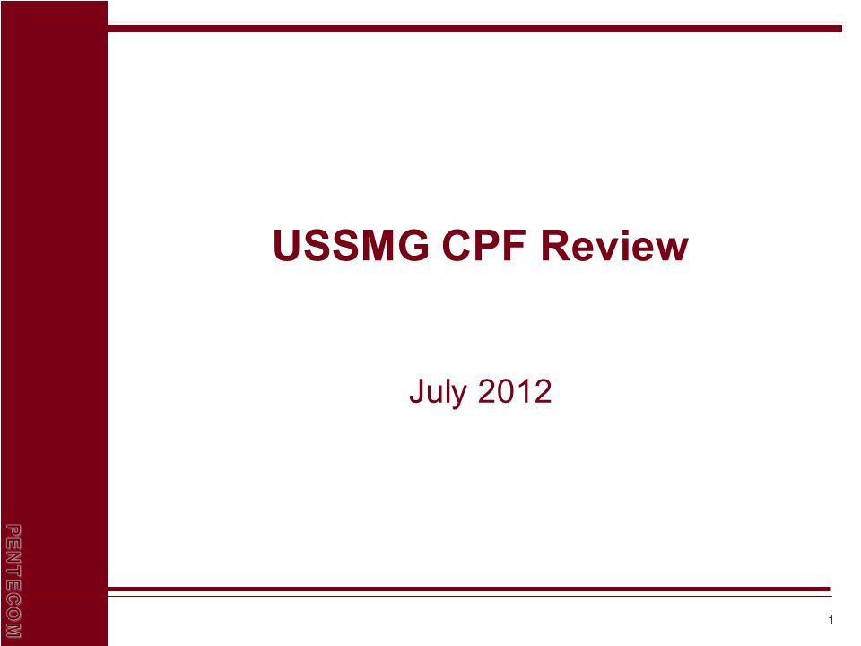 1 USSMG CPF Review July 2012