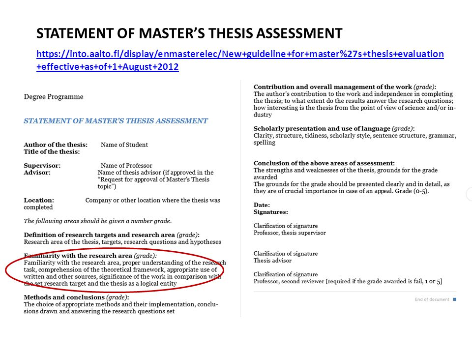 Exercise 4-3: Master's thesis introductions 1.2 Problem statement.