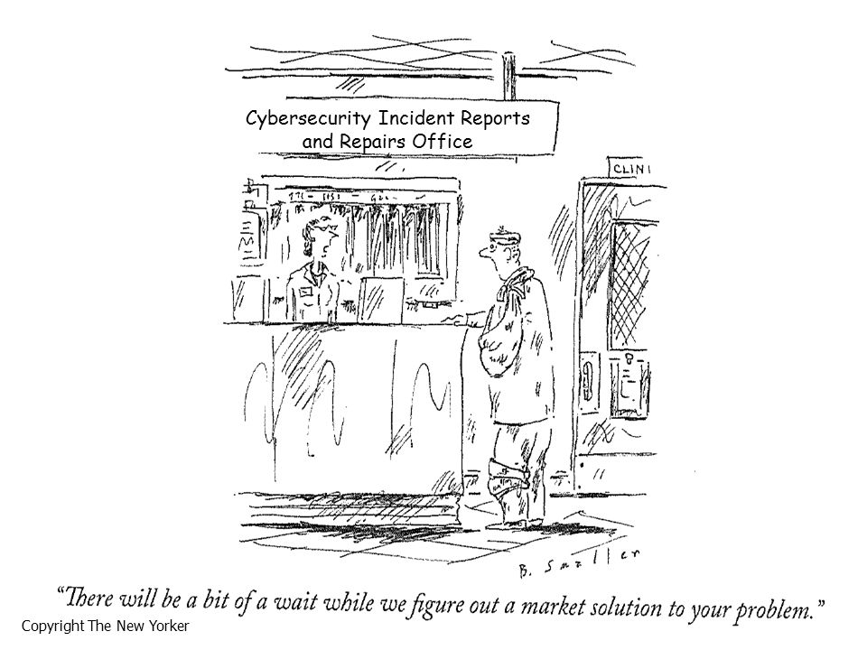 Copyright The New Yorker Cybersecurity Incident Reports and Repairs Office