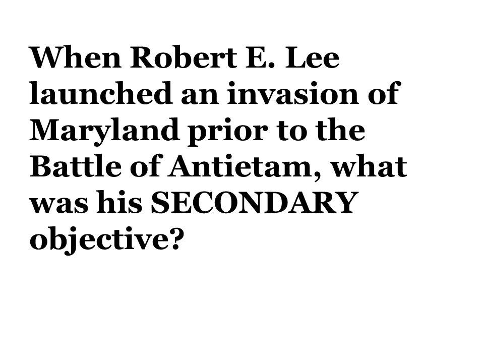 When Robert E.