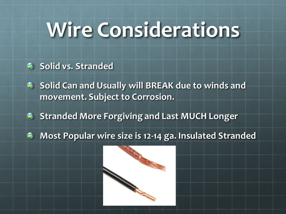 Suggested Build Materials 14ga Insulated Stranded Wire 2 – Insulators (PVC, Plastic, Ceramic or Glass) Dacron or Quality UV Resistant Rope