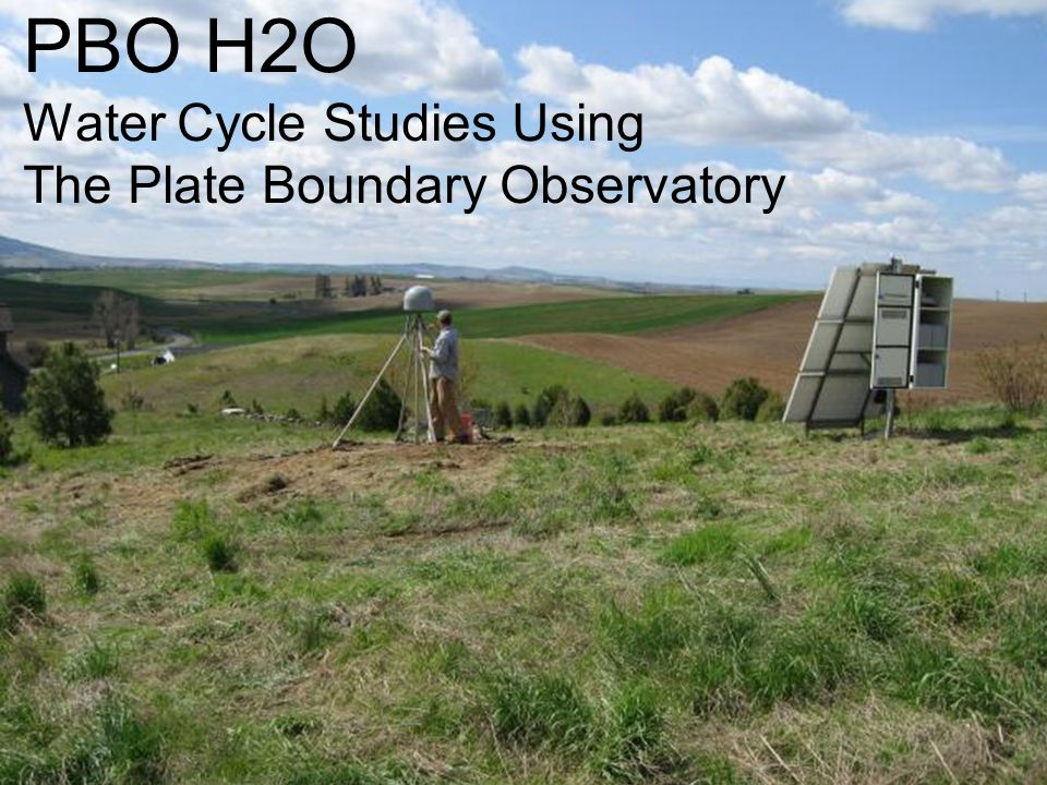 PBO H2O Water Cycle Studies Using The Plate Boundary Observatory