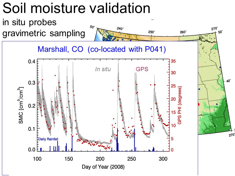 Soil moisture validation in situ probes gravimetric sampling In situGPS Marshall, CO (co-located with P041)